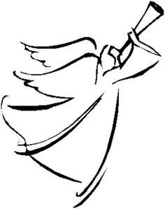 angel clip art simple angel clipart black and white free