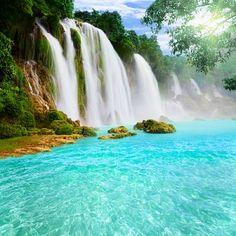 Fototapeta wodospad zielony, Fototapety , Fototapety na wymiar - Fototapety24.net