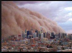 Dust storm Melbourne Feb. 1983.