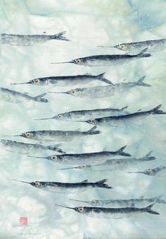 Gyotaku by Heather Fortner - ego-alterego.com