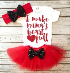 A personal favorite from my Etsy shop https://www.etsy.com/listing/504445189/baby-girl-clothes-i-make-mamas-heart