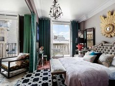 One bedroom apartment on the right bank French Apartment, Small Apartment Living, One Bedroom Apartment, Home Bedroom, Living Spaces, Work Spaces, Studio Apartment, Apartment Ideas, Living Rooms