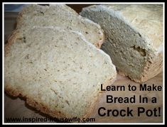 Gluten Free Crock Pot Bread - use egg substitute to make vegan