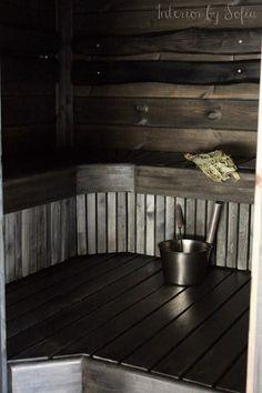 5459 Outdoor Sauna, Saunas, Cabin Interiors, Sauna Ideas, Villa, Rustic, Cabin Ideas, Bathroom, Wood