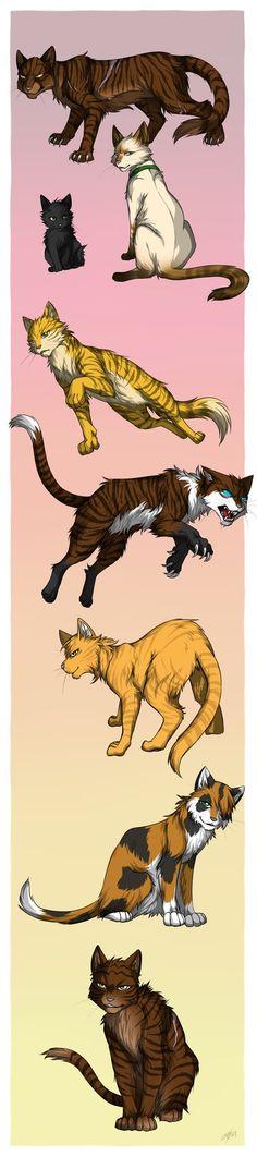 Tigerstar's mates and kin by Marshcold.deviantart.com on @DeviantArt