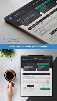 13 best Free Invoice Templates images on Pinterest   Invoice     Invoice Template Freebie For Small Businesses And Entrepreneurs   Download  instantly and edit it easily with