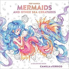 Pop Manga Mermaids And Other Sea Creatures A Coloring Book Colouring Books Amazon