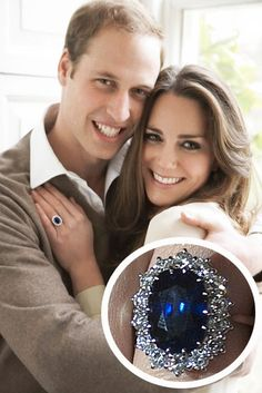 Prince William proposed to Kate with his mother Diana's 18 carat saphire and diamond engagement ring on a trip in Kenya.