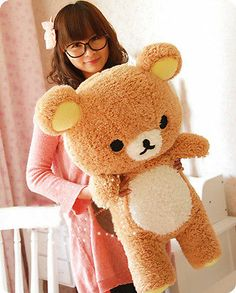 31 Stuffed Kawaii Gift San-x Rilakkuma Relax Bear Pillow Plush Toy Doll Plush Dolls, Doll Toys, Cute Bear, Kawaii Gifts, Kawaii Things, Japanese Toys, Japanese Plushies, Cute Stuffed Animals, Cute Plush