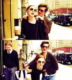 "Karen Gillan and Matt Smith. ""Karen's wearing the same clothes as yesterday!"" ""No, no I hate you!"""