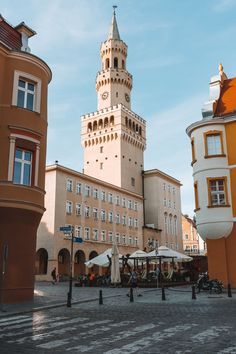 Square Market in Old Town Opole, Poland