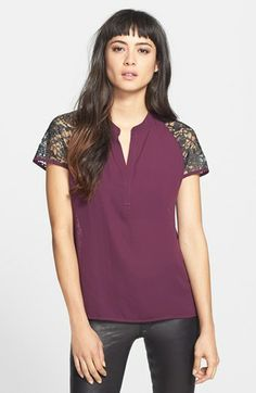 Ro & De Lace Back Woven Top (Regular & Petite) available at #Nordstrom