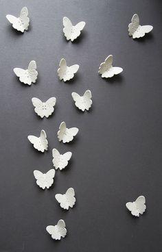clay butterfliesfor wall