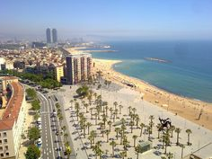 Barcelona Beach from Cable Car #Barcelona #about #travel