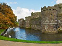 The Moat of Beaumaris Castle