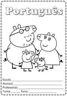 Pedagógiccos: Capas para cadernos - temas Peppa Pig