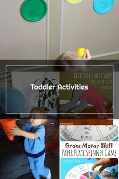 Throw and Count - Gross Motor and Counting Toddler Activities #toddler #toddleractivities #ideasfortoddlers #planningplaytime #ad Gross Motor Activities, Toddler Activities, Holiday Activities, Paper Plates, Counting, Children Activities