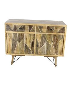 Look at this #zulilyfind! Wood & Metal Sideboard #zulilyfinds