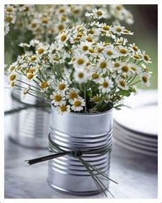 Special {Week 38 tin can centerpieces rustic-wedding-ideas, would be super cute with a photo modge podged on it!tin can centerpieces rustic-wedding-ideas, would be super cute with a photo modge podged on it! Tin Can Centerpieces, Wedding Table Centerpieces, Centerpiece Ideas, Inexpensive Centerpieces, Inexpensive Wedding Ideas, Lollipop Centerpiece, Vase Ideas, Deco Champetre, Rustic Backyard