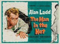 British Quad Movie Posters   ... in the Net 1959 original vintage UK quad film movie poster - Alan Ladd
