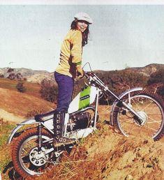 girl on a motorbike vintage  habermannandsons:    sckennedy:    Old school trials, I like it!