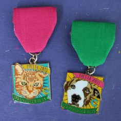 """spay/neuter pets"" cat and dog Fiesta medals 2015 San Antonio. All proceeds go to support the spay/neuter and animal welfare programs of The Cannoli Fund. #fiesta2015 All the details on where to buy locally and online at the link."
