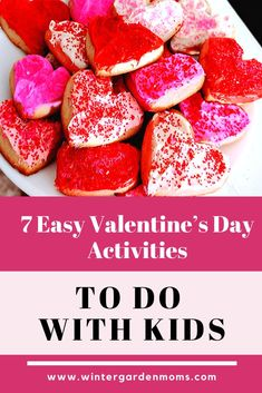 7 easy and inexpensive Valentine's Day activities to do with kids featuring crafts and treats to help bring the holiday of love to life! Valentines Day Activities, Fun Activities For Kids, Valentines Day Party, Orlando Events, Valentine's Day Party Games, Disney Tips, Mom Blogs, Some Fun, Treats