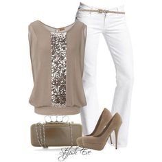 Taupe and white - Facebook (fashion house)