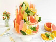 Get Citrus Brushstroke Cake Recipe from Food Network