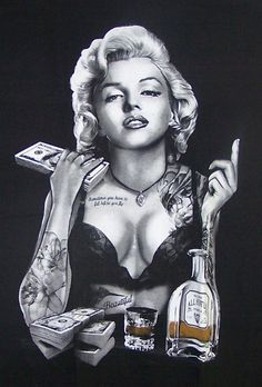$10.99 - Marilyn Monroe Tequila Money Screen Printed T-Shirts Mens Sizes (Mmts53 ^) #ebay #Fashion