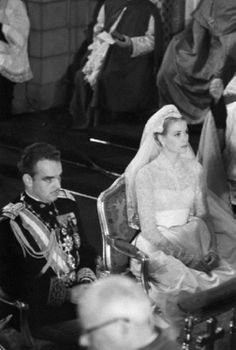 Wedding of Grace Kelly with Prince Rainier III of Monaco on 19  April 1956,