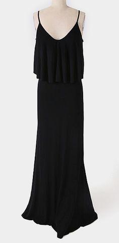 Black Camisole Maxi Dress