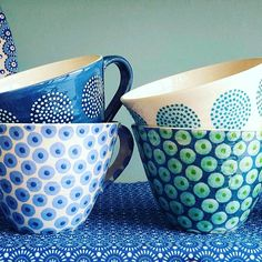 Sending these to Devon this morning. Goodbye mugs, safe journey through the post!!