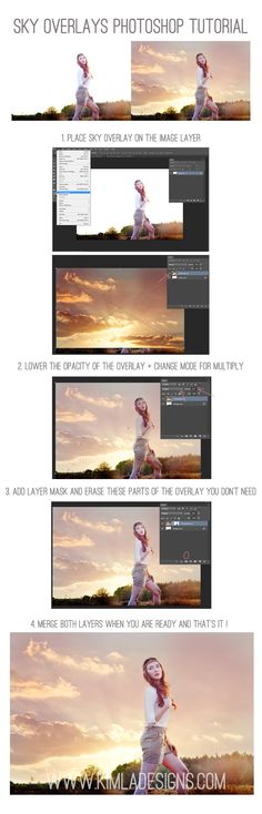 English Sky Photo Overlays Tutorial – Kimla Designs