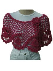 Crochet Pineapple Capelet  Capelet is made using DK weight cotton yarn and uses a size H hook. Instructions are written for adult sizes S-XL. Available as a PDF download only. Skill Level: Experienced  $5.99 for pattern