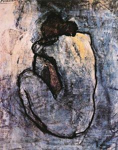 Blå nakenmodell, ca 1902 - Posters av Pablo Picasso på AllPosters.se poster
