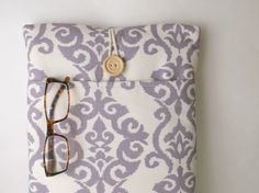 Purple Macbook Pro or Air Case 13 inch Laptop Bag with Cord Pocket Sleeve Cover Padded Lavender Ikat Mac Book Ladies Women Modern Fabric Sac by MadeByJulie on Etsy