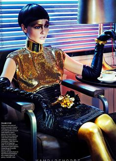 ☆ Sasha Pivovarova | Photography by Steven Klein | For Vogue Magazine US | December 2011 ☆ #sashapivovarova #stevenklein #vogue #2011