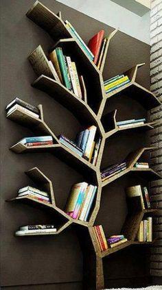 Leuk idee voor je boeken.. Een Boekenboom