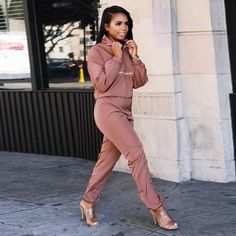 f322da320c29 HAOYUAN Fall Winter Tracksuit Women Two Piece Set Long Sleeve Top and Pant  Sweat Suit Sexy