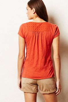 Cuyama Tee - anthropologie.com - insert treatment on the back