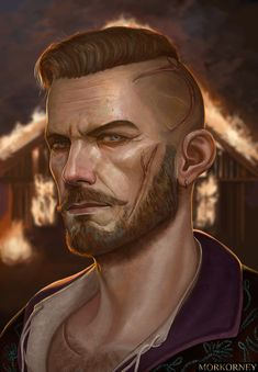 Olgierd Von Everec, The Witcher Game, Dnd Characters, Fictional Characters, Image Painting, I Really Love You, Dragon Age, Amazing Art, Character Art