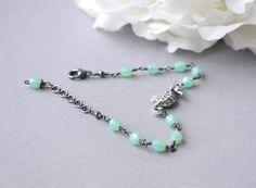 Nature Design  Mint Green Bracelet  Seahorse by SarahOfSweden