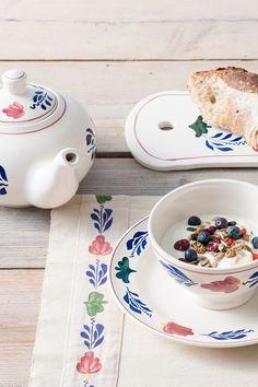 Start je dag goed met een yoghurt en fruit ontbijt in een mooie Boerenbont kom.