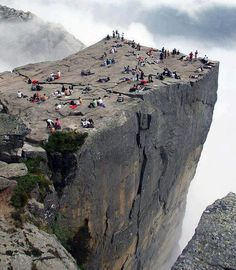 Love this shot of Preikestolen Cliff in Norway