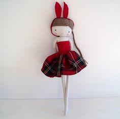 doll in red by las sandalias de ana, via Flickr