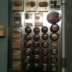 This idea came from shelterness.com. My version is a makeup organizer using a metal backdrop and magnetic tape set behind a medicine cabinet mirror. Close the door and only see the mirror. A great way to organize my makeup.