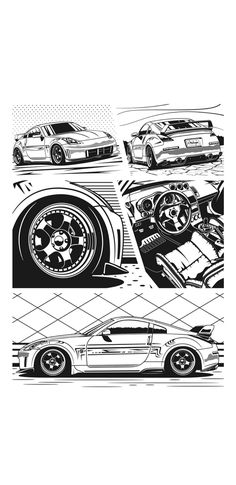 Lowrider Drawings, Car Drawings, My Dream Car, Dream Cars, E Motor, Nissan Z, Cars Coloring Pages, Car Vector, Nissan Gtr Skyline