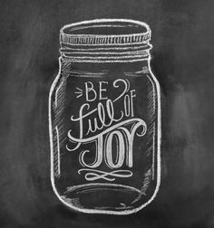 Mason Jar Art ~ Joy!