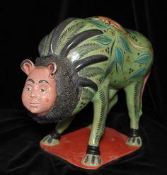 Nagual Shapeshifter Bull by Master Potter Angel Ortiz Mexican Folk Art Hand Made